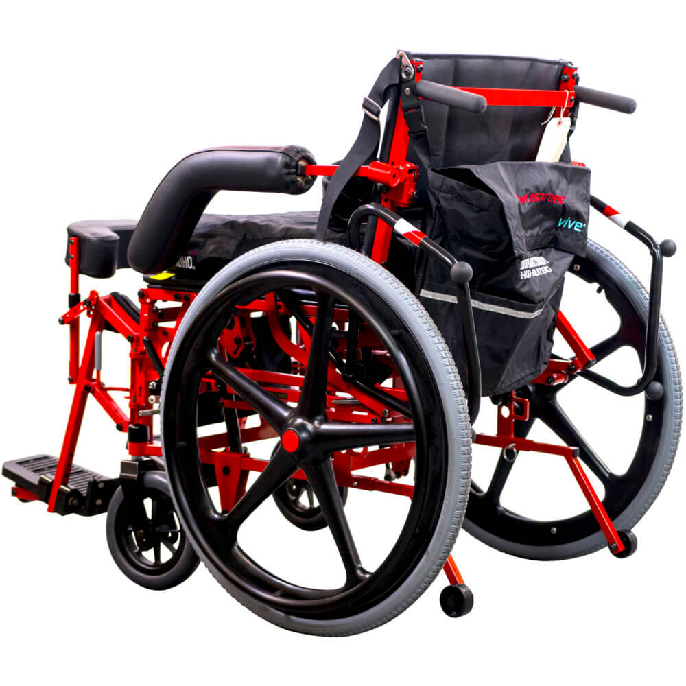 manual power wheelchair in sitting position