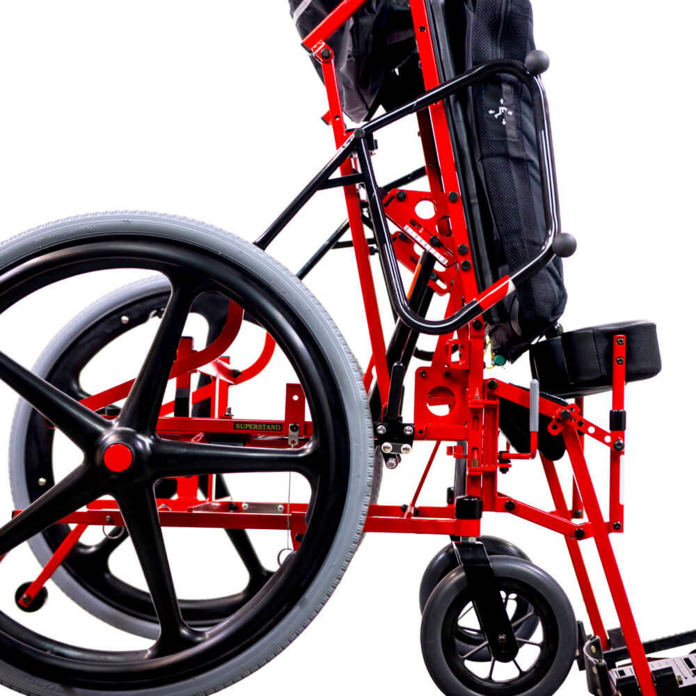 manual power wheelchair standing position