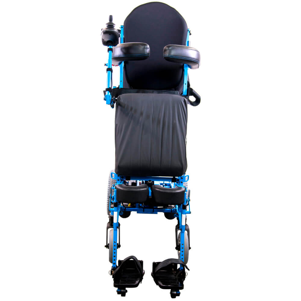 full-power standing wheelchair in standing position
