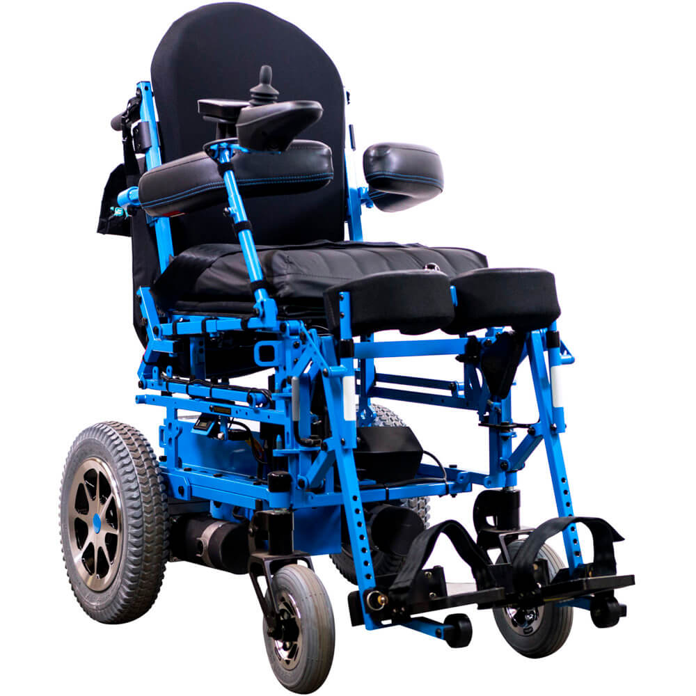 full-power standing wheel chair seated position