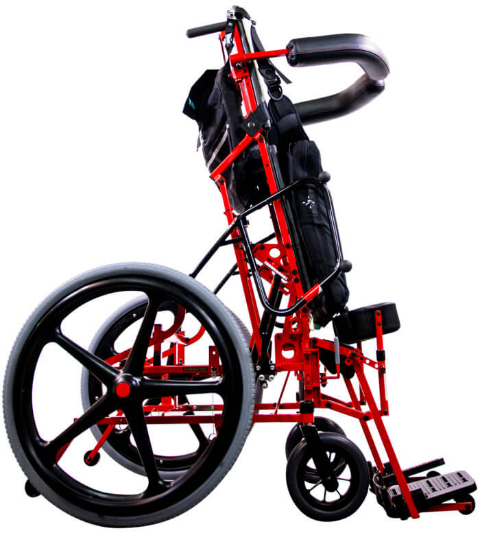 manual standing wheelchair - standing position