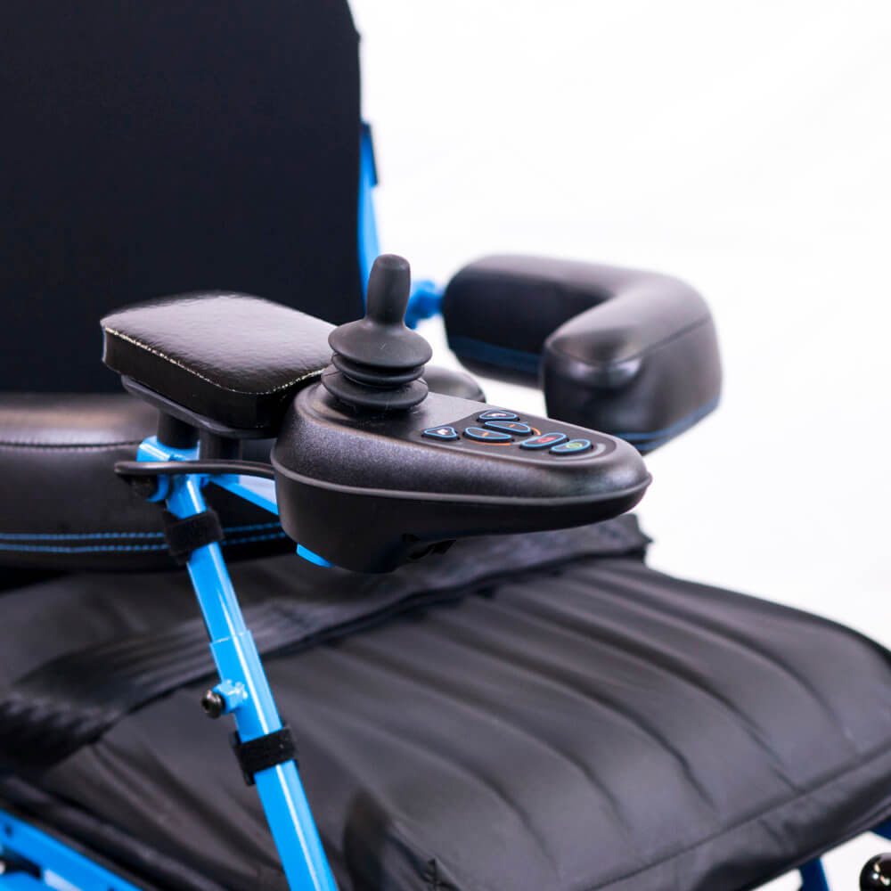 full-power standing wheelchair control pad